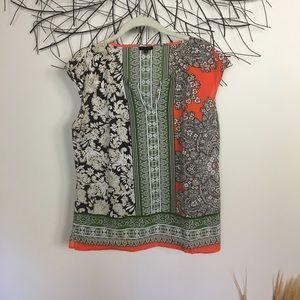 Medium boho sleeveless TALBOTS blouse.